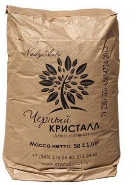 Мульча Черный Кристалл - 50 кг